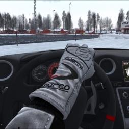 Assetto Corsa Nissan GTR Snow-Oval drift - Oculus Rift