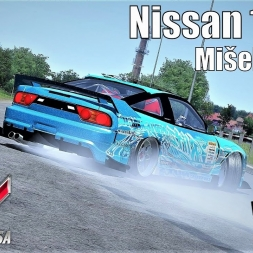 Nissan 180sx Gymkhana Drift at Mišeluk - Assetto Corsa (Mod Download)