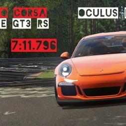 VR [Oculus Rift] Porsche GT3 RS RSR Record 7:11.796 Nordschleife | Assetto Corsa Gameplay
