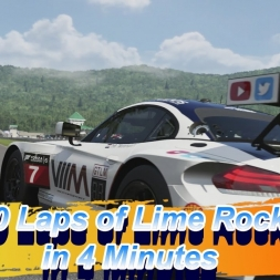 50 laps of lime rock in 4 minutes