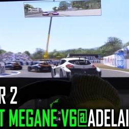 rFactor 2 : Renault Megane V6 @ Adelaide [POV]
