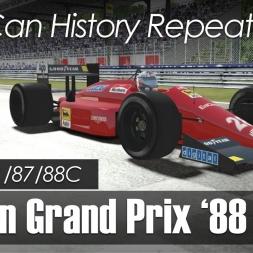 rFactor 2 - F1 1988 - Ferrari F1/87/88C @ Monza