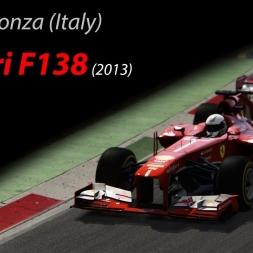 Ferrari F138 +5kg - 1.22.568 @Monza (Italy) - Assetto Corsa 1.11.3