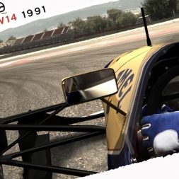Assetto Corsa Williams FW14  FW14  v0 2 BETA By ASRformula Real Onboard Cam at Barcelona