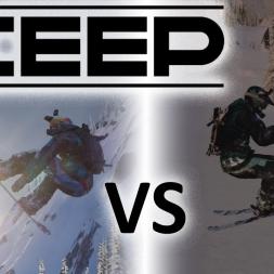 Steep - Ski vs Snowboard | Tricks | Jumps  [4K]