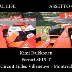 ASSETTO CORSA VS REAL LIFE - Ferrari SF15-T Montreal (4K)