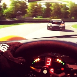 Trying to survive the Lime Rock with the RUFs GT3...