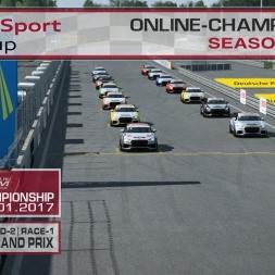 RaceRoom | Audi TT'15-16/S1: Online Championship`17 (R-2/Race-1 Norisring)