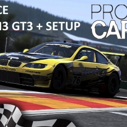 Project CARS SPA Race with BMW M3 GT3 + setup