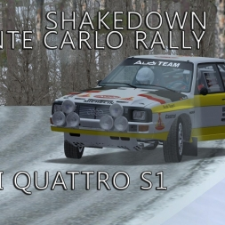 rFactor | Audi Quattro S1 | Monte Carlo Rally - Shakedown | Test