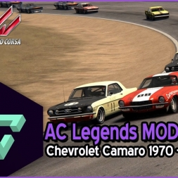 ASSETTO CORSA | AC LEGENDS MOD | CAMARO 1970 CAN-AM | RIVERSIDE - ESPAÑOL HD -