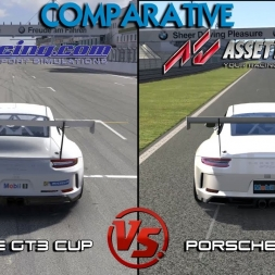 iRacing Vs Assetto Corsa  - Porsche GT3 Cup @ Nurburgring  - Multi Comparative