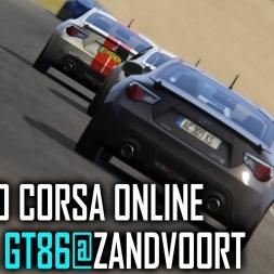 Assetto Corsa ONLINE : Toyota GT86 @ Zandvoort [POV] [PT-BR]