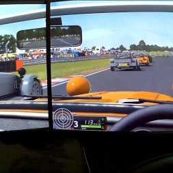 rFactor 2 Helmet Cam[FPV] Caterham 7 Classic 1 4L K series at Oulton Park International race AI 93%
