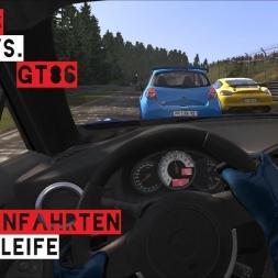 VR [Oculus Rift] Clio RS vs. GT86 Nordschleife Touristenfahrten | Forst Fail | Assetto Corsa
