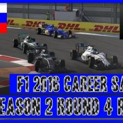 F1 2016 Sauber Career Season 2 - Round 4 Russia The Rescue Job