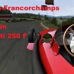 Old Spa Francorchamps in Maserati 250 F