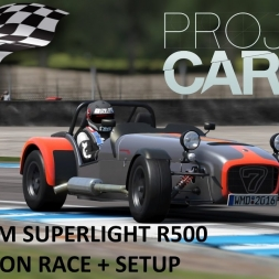 Project CARS Caterham Superlight R500 Race at Donington + setup