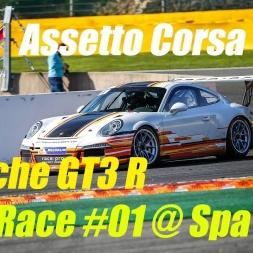 Assetto Corsa | Porsche GT3 R | Full GT3 Grid Race #01 @ Spa-Francorchamps (AI) | POV