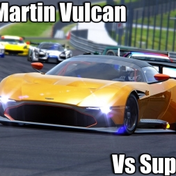 Assetto Corsa - Aston Martin Vulcan MOD vs SuperCars - Good and bad Weather Graphics mod 1440p