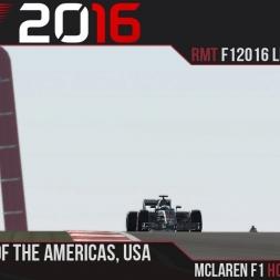 F1 2016 // Ramteam F1 2016 League S1, R18 - USA [60fps]