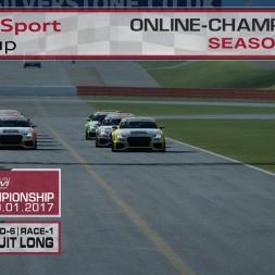 RaceRoom | Audi TT'15-16/S1: Online Championship`17 (R-6/Race-1 Stowe Circuit Long)