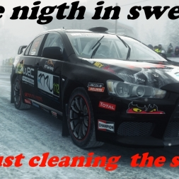 DIRT RALLY- One nigth in Sweden cleaning the snow