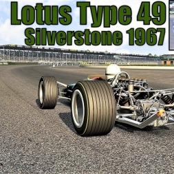 A Blast From The Past: Lotus Type 49 HOTLAP at Silverstone 1967 - Assetto Corsa