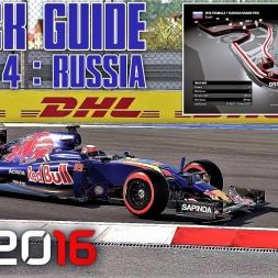 Round 4 - RUSSIAN GP Track Guide + Hotlap - F1 2016