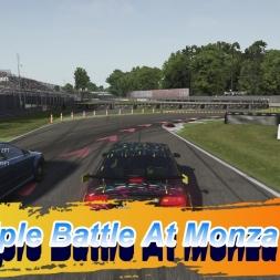 Triple Battle At Monza
