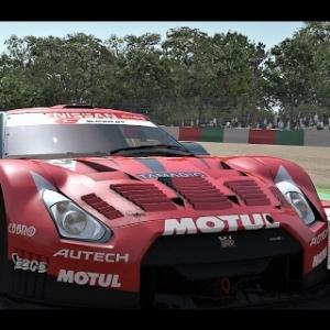 Nissan GT R GT500 race on Suzuka circuit rFactor2
