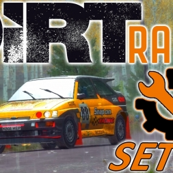 DiRT Rally | Ford Escort Cosworth Setup | Finland RAIN | Wheel & Controller [4K]