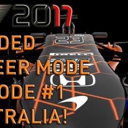 SHOCK WINNER! F1 2017 Modded Career Mode Episode 1 (F1 2014 Game)