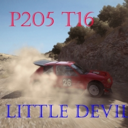 "DIRT RALLY-BACK TO B ""P205 T16 Insane amount of Power"""