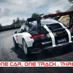Take one Porsche GT3 Cup Car and mix in three sims !