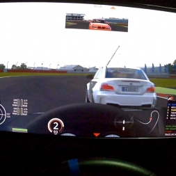 Assetto Corsa Helmet camFPV Multiplayer BMW 1M @ Silverstone -National