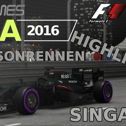 F1 2016 | LIGA 2016 | 7. Saisonrennen | Singapur [GPGAMES.eu]