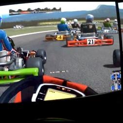rFactor 2 Helmet Cam[FPV] Kart F1 @KartodromoValencia race AI 93%