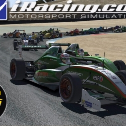 iRacing AOR Formula Renault 2 0 Championship onboard with commentary Round 18 - Laguna Seca