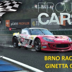 Project CARS Brno Race (wet) with Ginetta G55 GT4 + setup