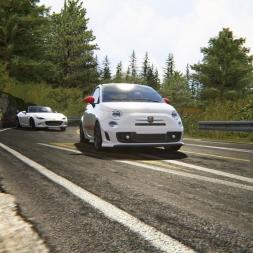 Abarth 500 vs Mazda MX-5 Drifting @ Akina | Assetto Corsa
