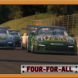 """iRacing: Four-For-All"" (Porsche iRacing Cup at Okayama International Circuit)"