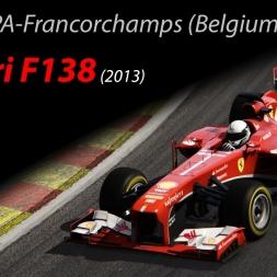 Ferrari F138 +10kg - 1.45.127 @SPA-Francorchamps (Belgium) - Assetto Corsa 1.11.4