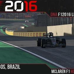 F1 2016 // Ramteam F1 2016 League S1, R20 - Brazil [60fps]