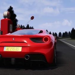 Assetto Corsa: A Sunday Drive on Pacific Coast North in the Ferrari 488 GTB