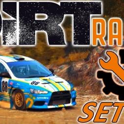 DiRT Rally | Mitsubishi Lancer Setup | Greece | Wheel & Controller [4K]