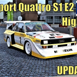 NEW Audi Sport Quattro S1 E2 at Highlands - Test Drive - Asetto Corsa (V1.12 Update)