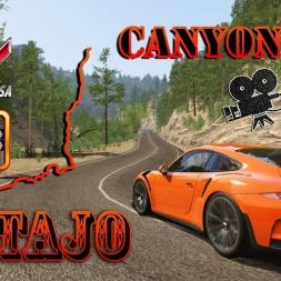 Assetto Corsa 4K * canyon fly at Tajo * Porsche 911 GT3 RS [TVcam]