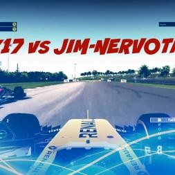 AliK17 vs JIM-NervoTank | How to Race Wheel-to-Wheel on F1 2016