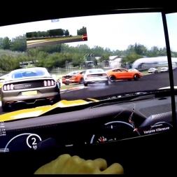 Assetto Corsa Helmet cam[FPV] Multiplayer Ford mustang 2015 at Imola Race Human100%